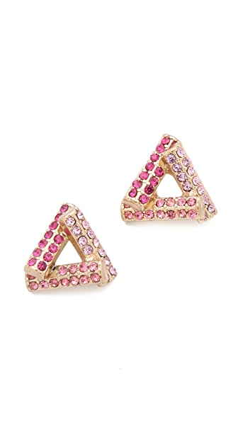 Adia Kibur Crystal Stud Earrings