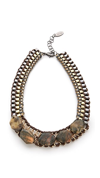 Adia Kibur Chiffon Necklace with Stones