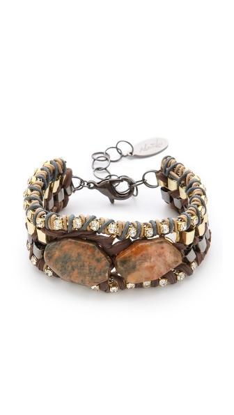 Adia Kibur Chiffon Bracelet with Stones