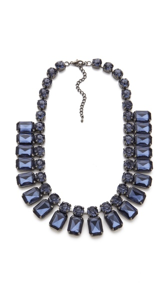 Adia Kibur Blue Crystal Necklace