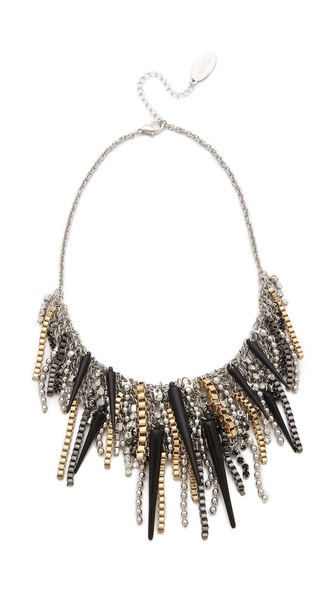 Adia Kibur Mixed Metal Fringe Necklace