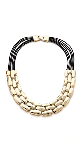 Adia Kibur Layered Row Necklace