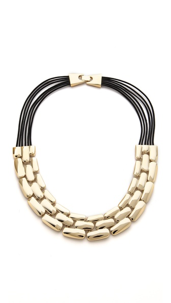 Adia Kibur Layered Row Necklace