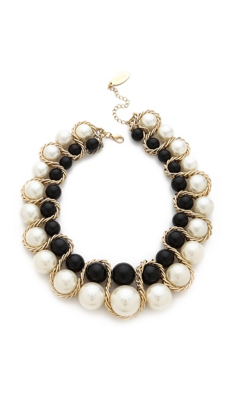 Adia Kibur Double Row Ball Necklace