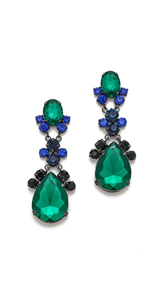 Adia Kibur Crystal Teardop Earrings