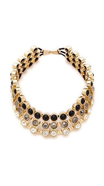 Adia Kibur Circle Stone Collar Necklace