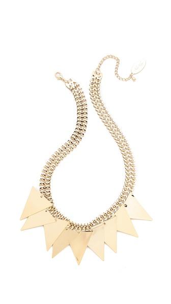 Adia Kibur Triangle Fringe Necklace