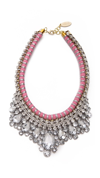Adia Kibur Crystal Adorned Choker Necklace