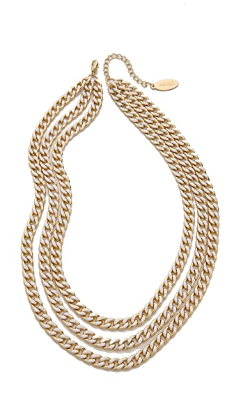 Adia Kibur Triple Layer Chain Necklace