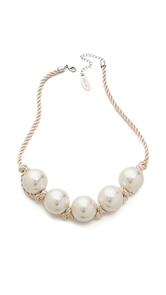 Adia Kibur Imitation Pearl Rope Necklace