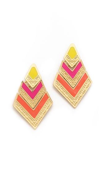 Adia Kibur Arrow Drop Earrings