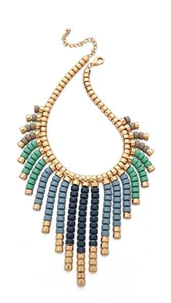 Adia Kibur Beaded Fringe Necklace