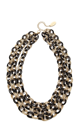 Adia Kibur Three Layer Chain Necklace