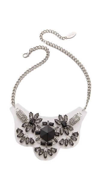 Adia Kibur Crystal Floral Necklace