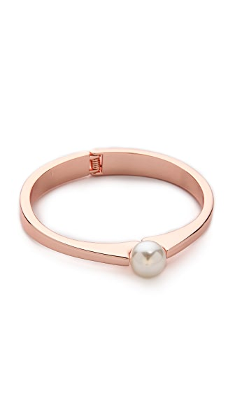 Adia Kibur Imitation Pearl Bangle Bracelet