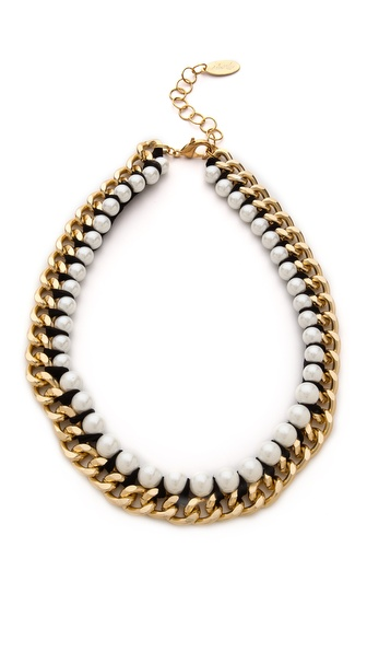 Adia Kibur Imitation Pearl Chain Necklace