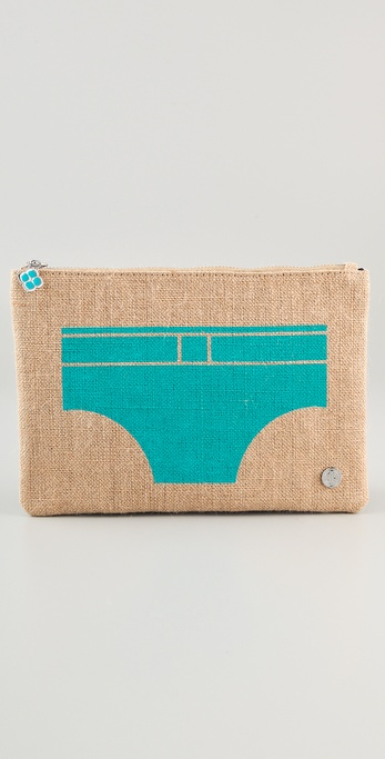 Jonathan Adler Jute Swim Trunks Pouch
