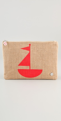 Jonathan Adler Jute Sailboat Pouch
