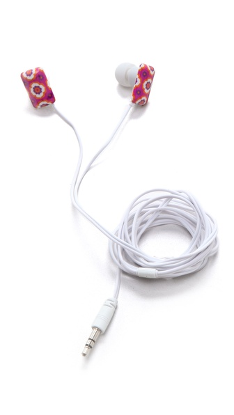 Jonathan Adler Retro Floral Ear Buds