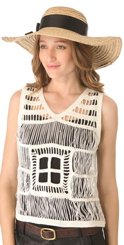 Jonathan Adler Overstitched Straw Sun Hat at Shopbop.com