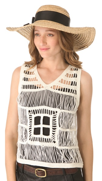 Jonathan Adler Overstitched Straw Sun Hat
