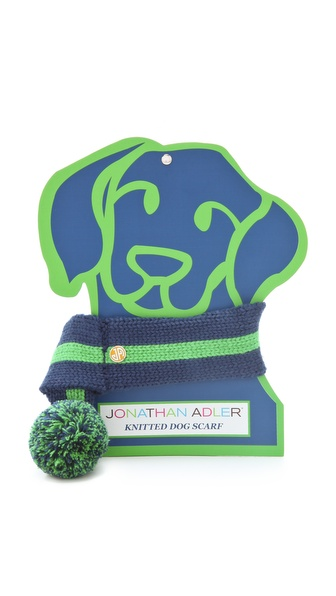 Jonathan Adler Knit Dog Scarf