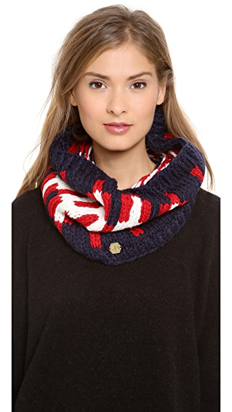 Jonathan Adler Stepped Chevron Instaria Neck Warmer