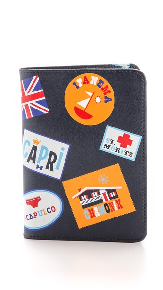 Jonathan Adler Stamps Passport Case