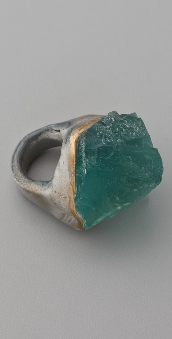 Adina Mills Design Green Fluorite Ring