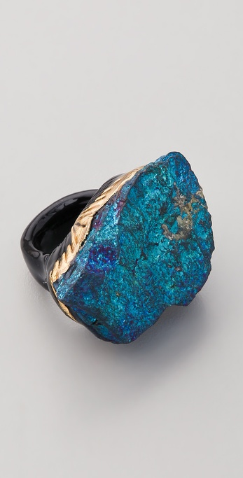 Adina Mills Design Peacock Pyrite Ring