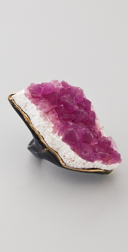 Adina Mills Design Pink Fluorite Ring