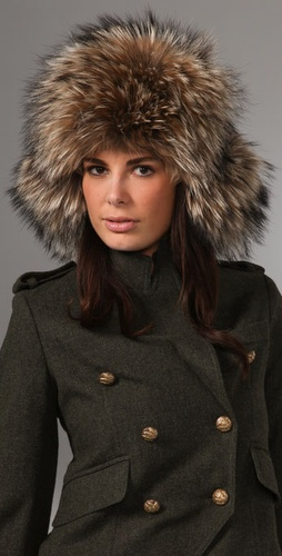 Adrienne Landau Fur Trapper Hat