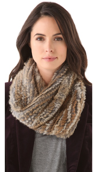 Adrienne Landau Rabbit Fur Neck Warmer