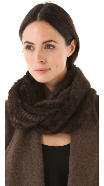 Adrienne Landau Mink Fur Loop Scarf