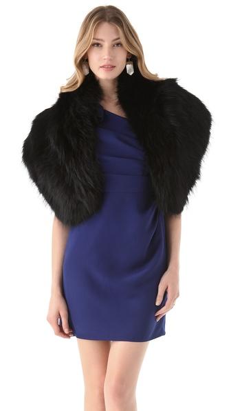 Adrienne Landau Raccoon Fur Stole