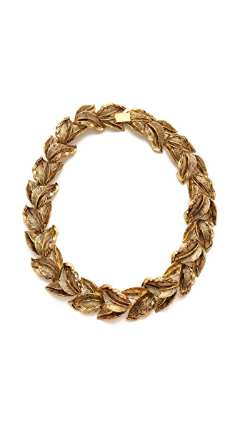 AERIN Erickson Beamon Leaf Wreath Necklace