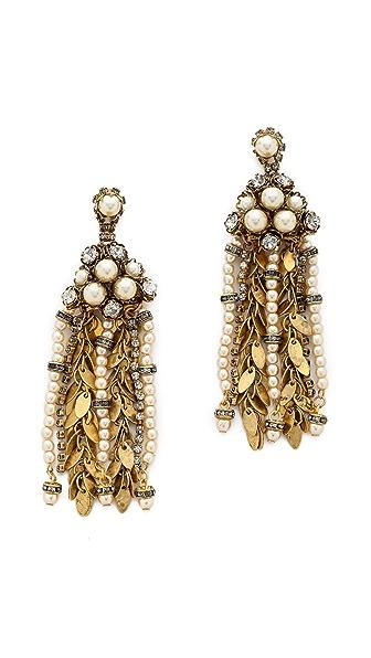 AERIN Erickson Beamon Multi Strand Drop Earrings