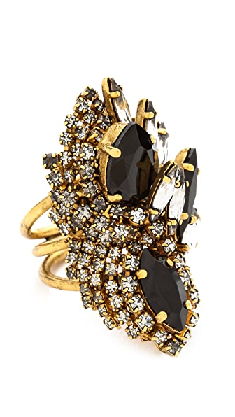 AERIN Erickson Beamon Oversized Crystal Statement Ring
