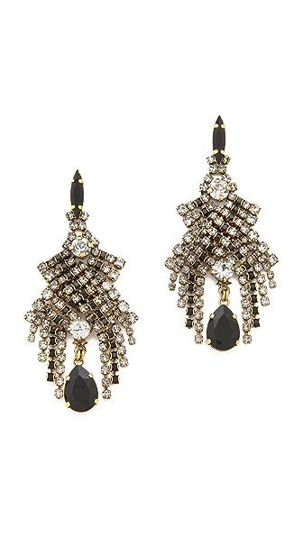 AERIN Erickson Beamon Cascading Crystal Earrings