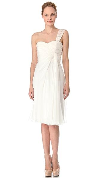 Alberta Ferretti Collection One Shoulder Cocktail Dress