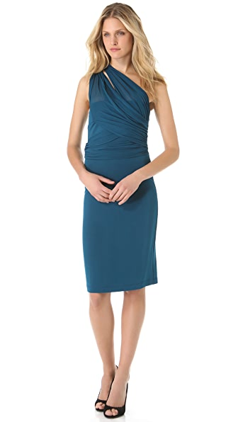 Alberta Ferretti Collection Asymmetrical Gathered Dress