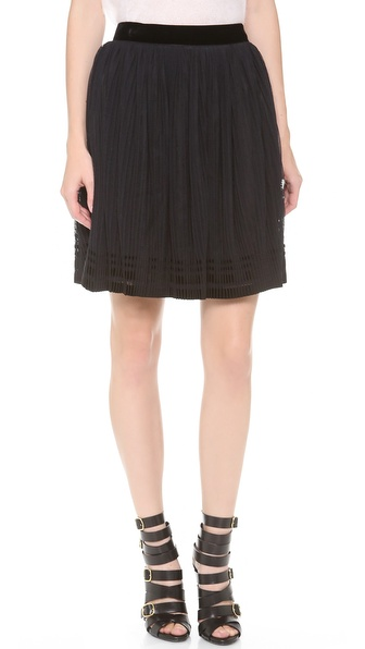 Alberta Ferretti Collection Accordion Tulle Skirt - Black at Shopbop / East Dane
