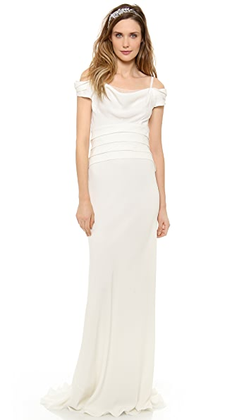 Alberta Ferretti Collection Off the Shoulder Gown