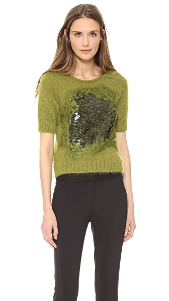 Alberta Ferretti Collection Short Sleeve Sweater
