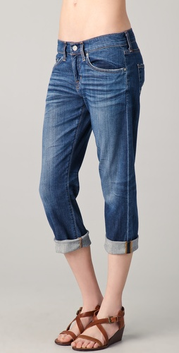 AG Adriano Goldschmied Ex-Boyfriend Crop Jeans