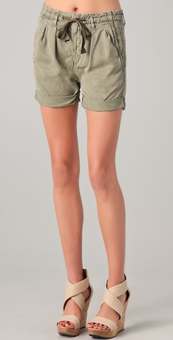 AG Adriano Goldschmied Paper Bag Shorts