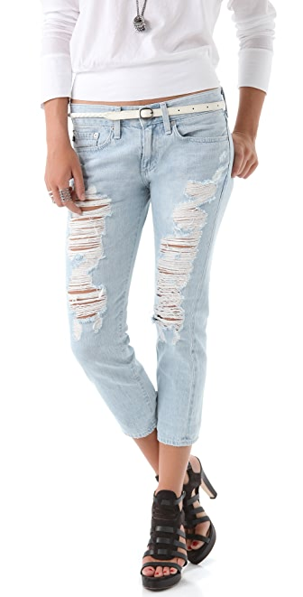 AG Adriano Goldschmied Piper Cropped Slim Boyfriend Jeans
