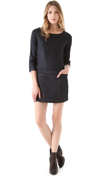 AG Adriano Goldschmied Zip Back Shift Denim Dress