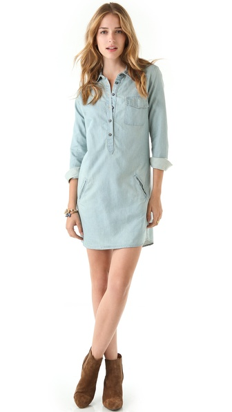 AG Adriano Goldschmied Chambray Shirtdress