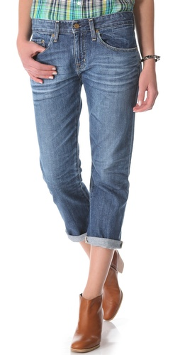 AG Adriano Goldschmied Ex Boyfriend Cropped Jeans